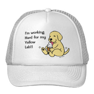Yellow Lab Licking Ice Cream Cap