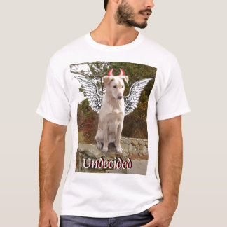 Yellow Lab mix with angel wings and devil horns T-Shirt