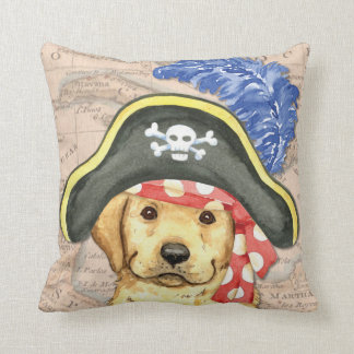 Yellow Lab Pirate Cushion