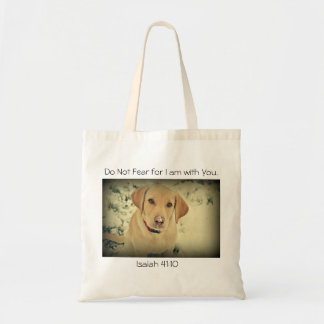Yellow Lab Pup with encouragement Bag