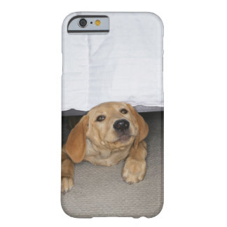 Yellow lab puppy stuck under bed barely there iPhone 6 case