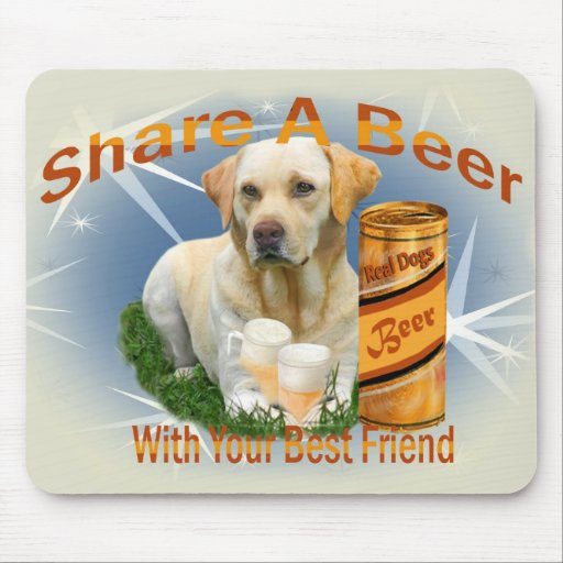 Yellow Lab Shares A Beer gifts Mouse Pad