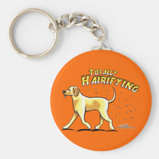 Yellow Lab Totally Hairifying Keychains