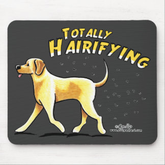 Yellow Lab Totally Hairifying Mouse Pad