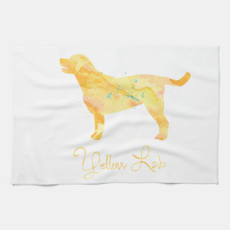 Yellow Lab Watercolor Design Hand Towel