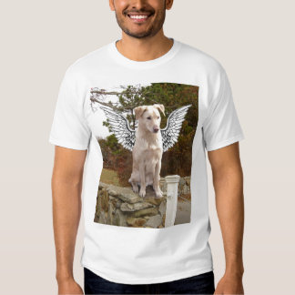 Yellow Lab with Angel wings T Shirts