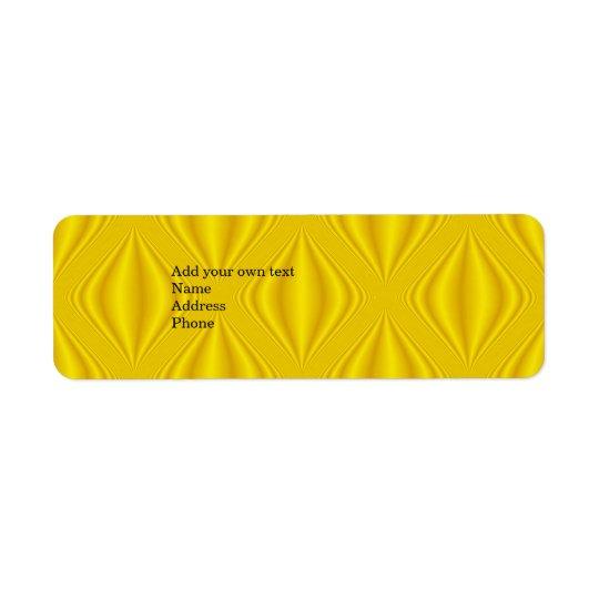 Yellow  Label Gift Address Sticker