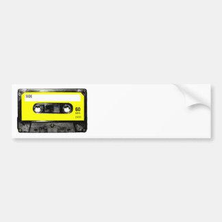 Yellow Label Vintage Cassette Bumper Sticker