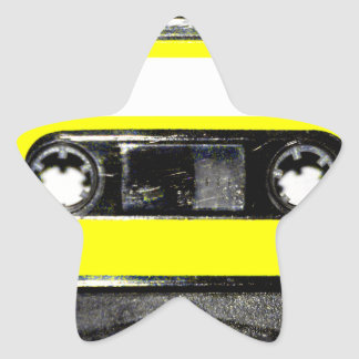 Yellow Label Vintage Cassette Star Sticker