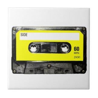 Yellow Label Vintage Cassette Tile