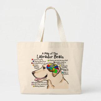 Yellow Labrador Brain Atlas Jumbo Tote Bag