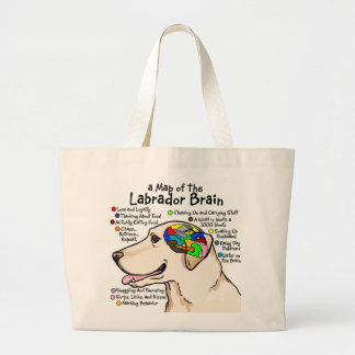 Yellow Labrador Brain Atlas Large Tote Bag