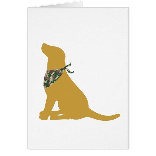 Yellow Labrador / Camo Bandana Card