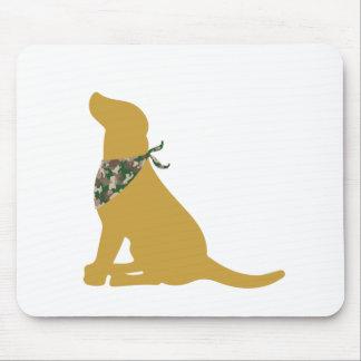 Yellow Labrador Camo Bandana Mousepads