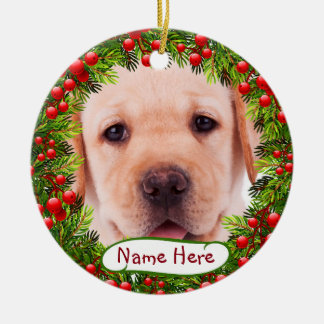 Yellow Labrador Christmas Ornament