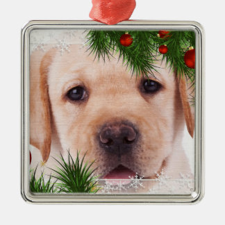 Yellow Labrador Christmas Ornament