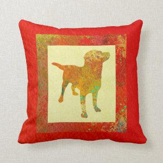 Yellow Labrador Cushion