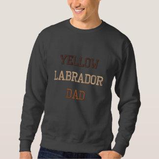 Yellow Labrador Dad Text Embroidered Sweatshirt