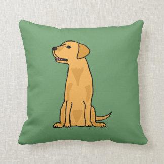 Yellow Labrador Dog Pillow
