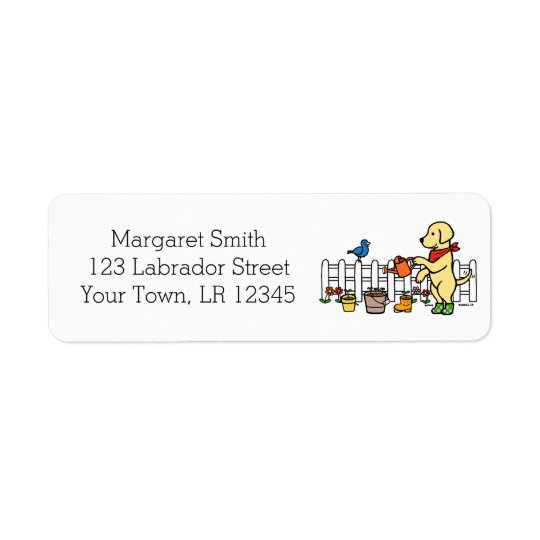 Yellow Labrador Gardener Address Labels