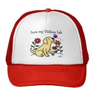Yellow Labrador & Green Cap