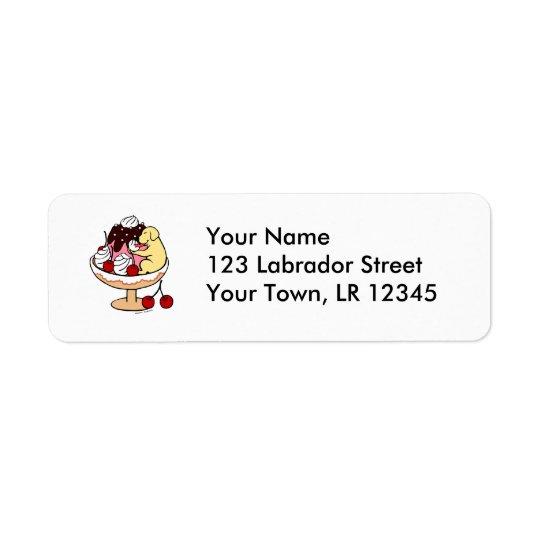 Yellow Labrador & Ice Cream Sundae
