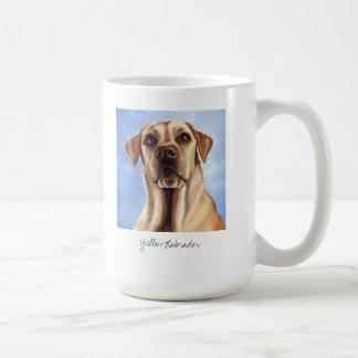 Yellow Labrador Painted in Watercolour Basic White Mug