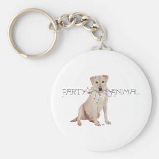 Yellow Labrador Party Animal Key Chain