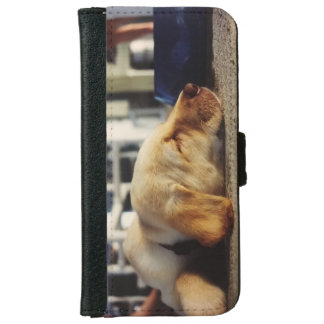 Yellow Labrador Pup iPhone wallet case