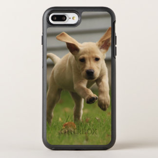 Yellow Labrador Puppies Running OtterBox Symmetry iPhone 8 Plus/7 Plus Case