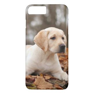 Yellow Labrador Puppy In Autumn iPhone 8 Plus/7 Plus Case