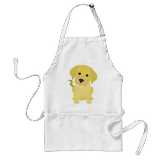 Yellow Labrador Puppy Standard Apron