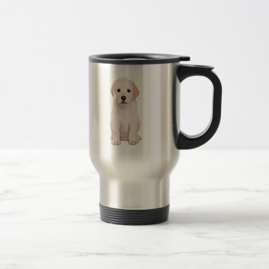 Yellow Labrador Puppy Travel Mug