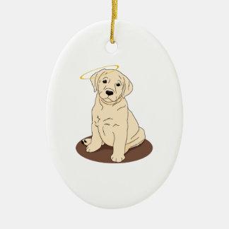 Yellow Labrador Retriever Angel Christmas Ornament
