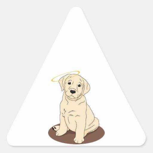 Yellow Labrador Retriever Angel Sticker