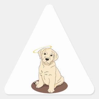 Yellow Labrador Retriever Angel Triangle Sticker