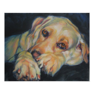 Yellow Labrador Retriever Art Print