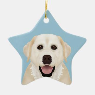 yellow labrador retriever cartoon christmas ornament