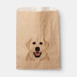 yellow labrador retriever cartoon favour bags