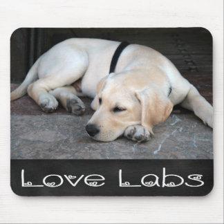 Yellow Labrador Retriever Chalkboard Mousepad