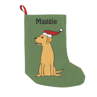 Yellow Labrador Retriever Christmas Stocking