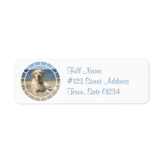 Yellow Labrador Retriever Dog Mailing Label Return Address Label