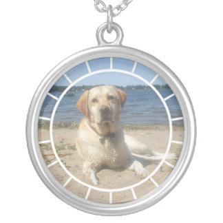 Yellow Labrador Retriever Dog Necklace