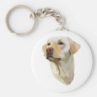 Yellow Labrador Retriever Key Ring