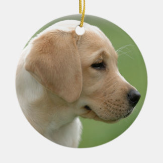 Yellow labrador retriever puppy christmas ornament