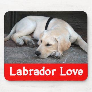 Yellow Labrador Retriever Puppy Dog - Yellow Lab Mouse Mat