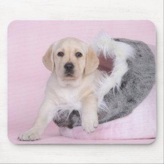 Yellow labrador retriever puppy mouse pads