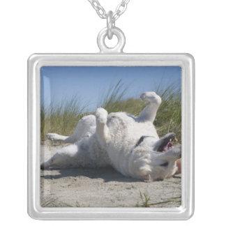 Yellow Labrador Retriever Silver Plated Necklace