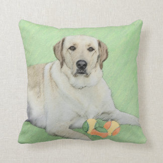 Yellow Labrador Retriever & Tennis Balls Painting Cushion