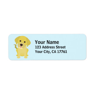 Yellow Labrador Return Address Labels